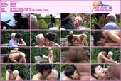 Old man fuck calfgirl in the park on a bench - porn video dd0001