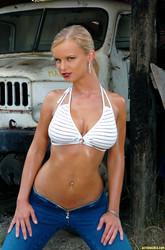 women at topless beach
